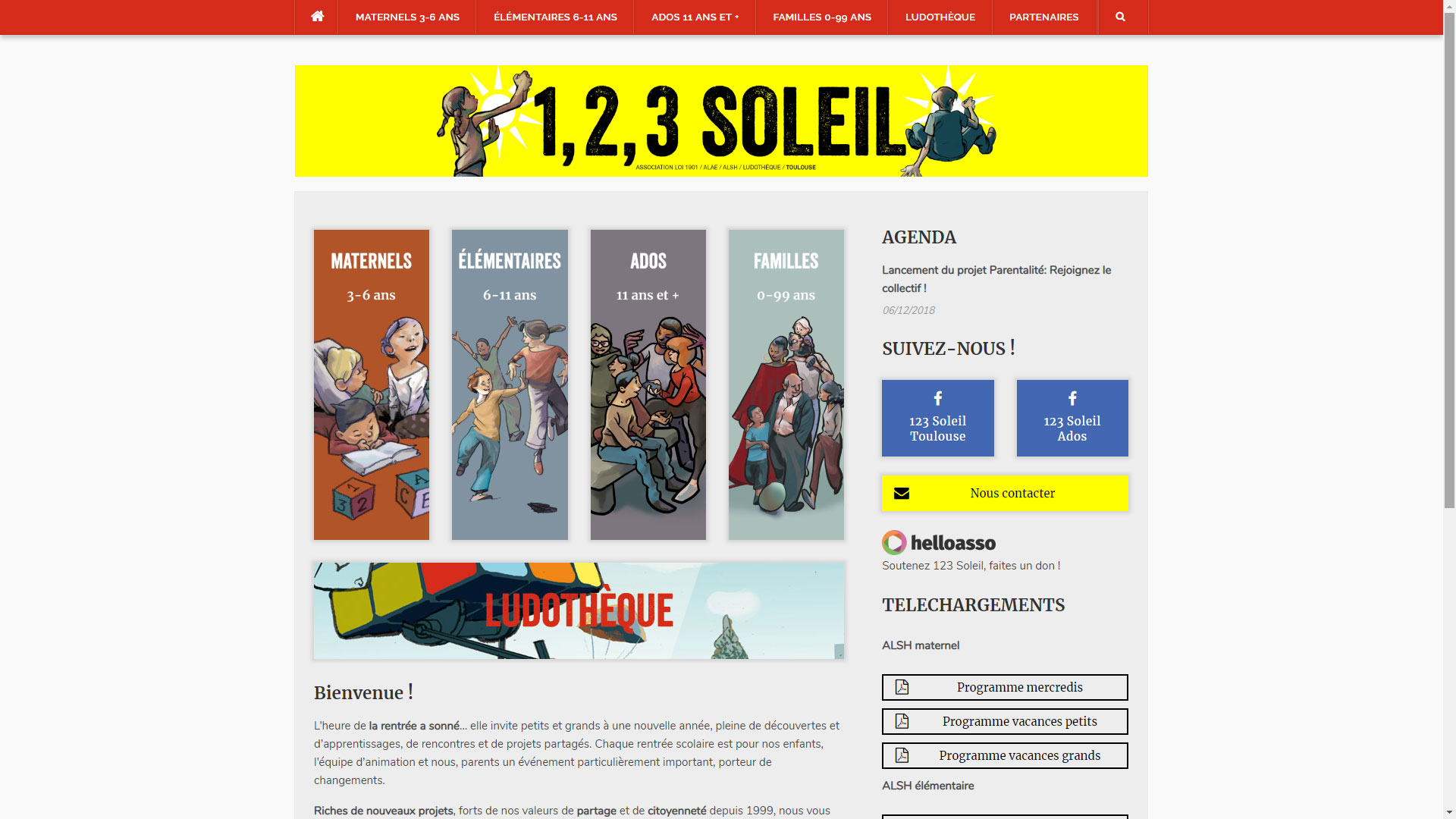 Site Internet 123 Soleil