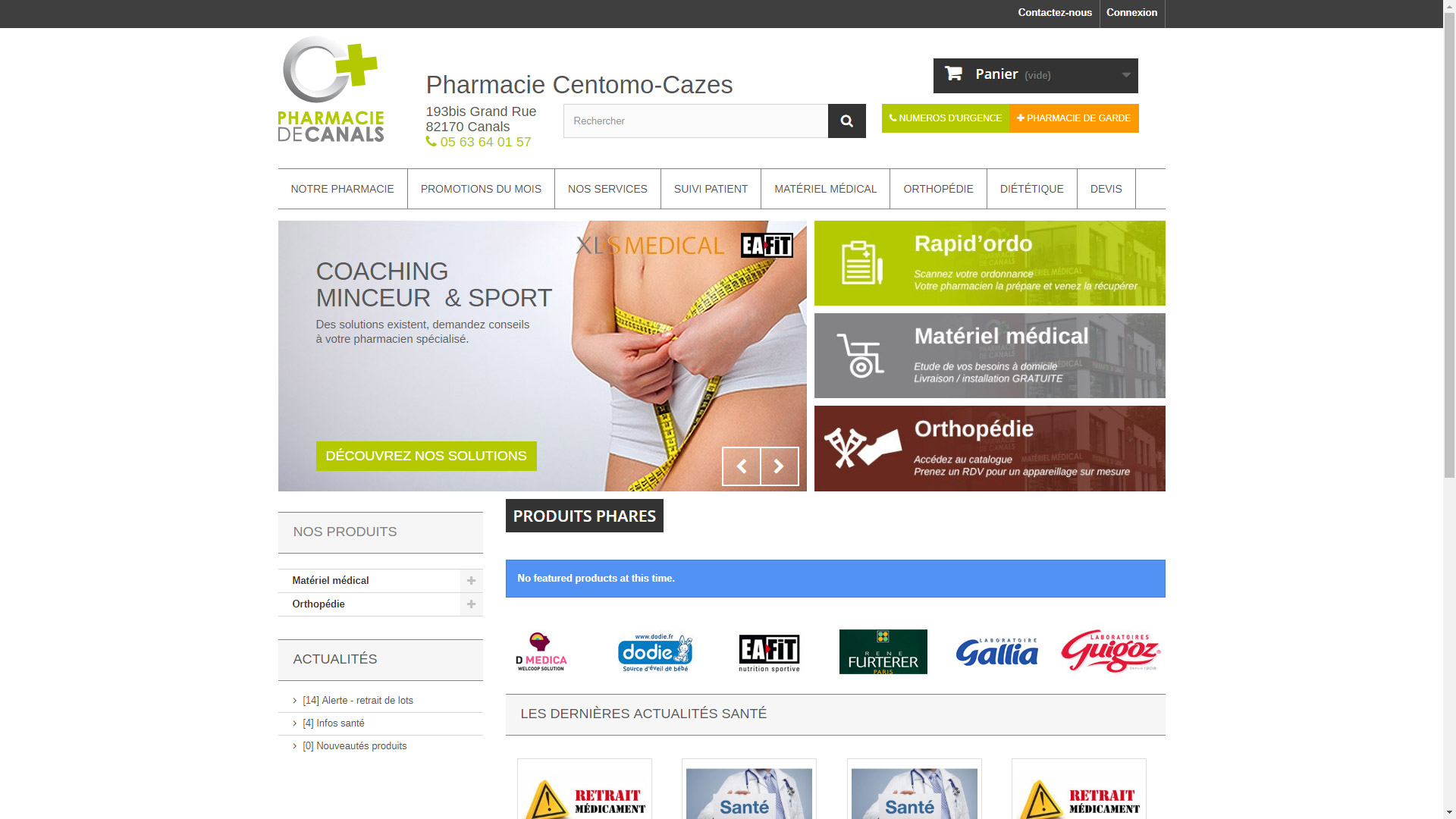 Site Internet Pharmacie de Canals
