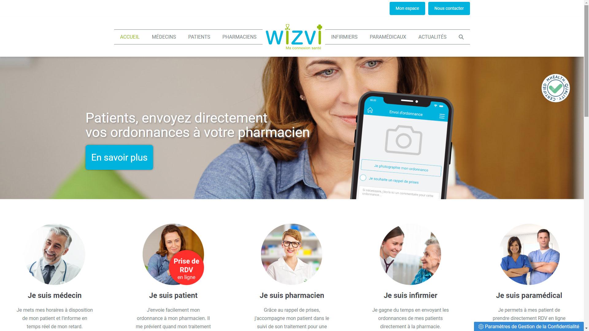 Site Internet WIZVI ma connexion santé