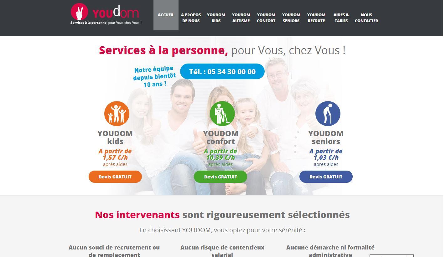 Site Internet Youdom, Services à la personne
