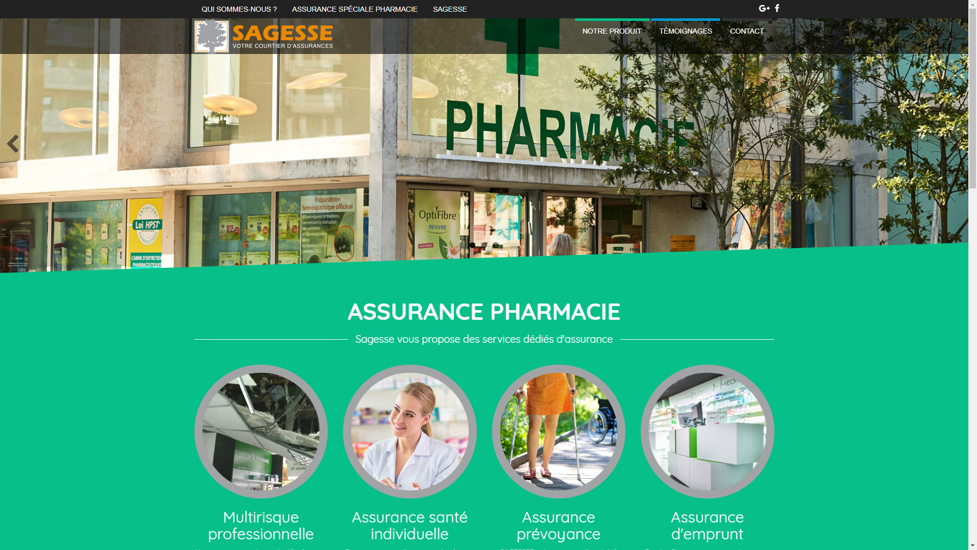 Site Internet Assurance Pharmacie