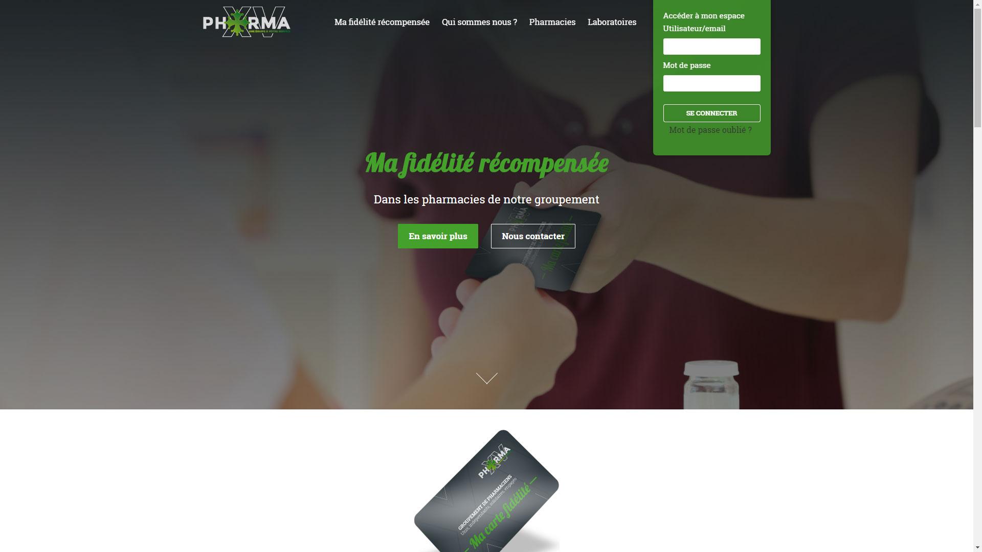 Site Internet Fidélité PHARMA XV